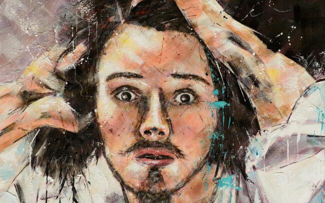 Le désepéré - Peinture à l'huile sur toile - 60x60cm
