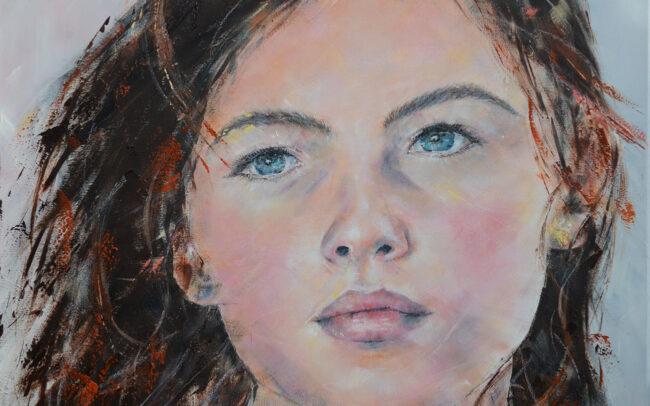 Peinture à l'huile sur toile - 80x80cm
