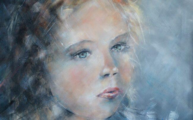 Elsa - Peinture à l'huile sur toile - 60x60cm