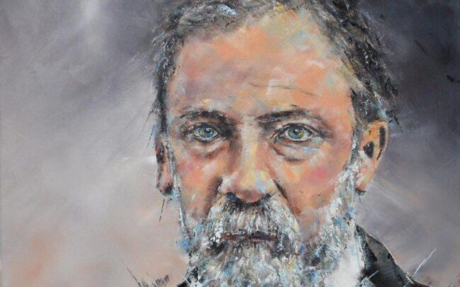 Louis Pasteur - Peinture à l'huile sur toile - 80x80cm